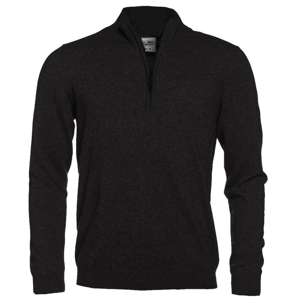zip stehkragen pullover mit patches herren allbow. Black Bedroom Furniture Sets. Home Design Ideas