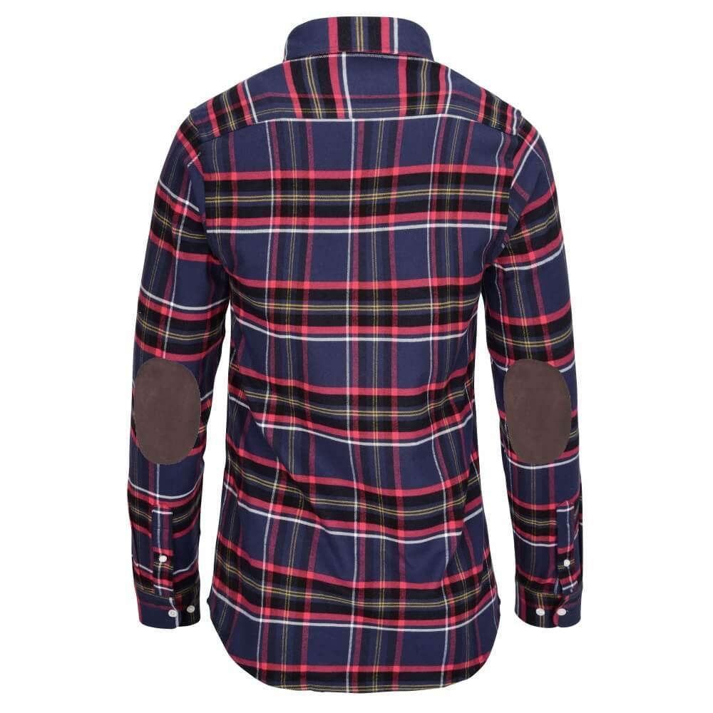 tough flanell rot blau mit braun hemden und pullover mit ellenbogen patches allbow. Black Bedroom Furniture Sets. Home Design Ideas