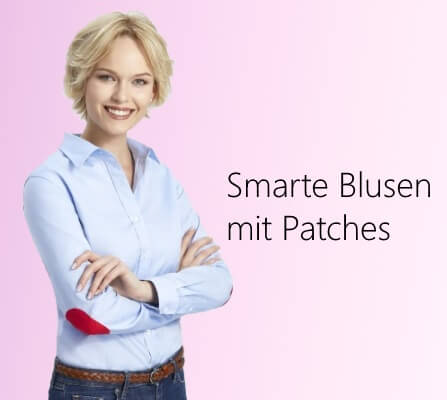 Damen Bluse mit Patches