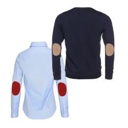 ALLBOW Ellenbogen-Patches Pullover Hemd