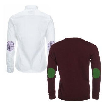 Hemden und Pullover mit Ellenbogen-Patches ALLBOW