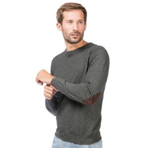 f4b611af342d5a Sweater with Elbow Patches Men ALLBOW Shop