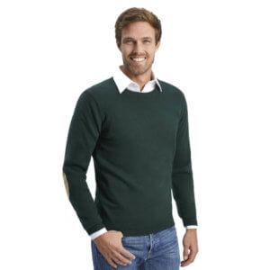 ALLBOW Herren Rundhals Pullover grün petrol
