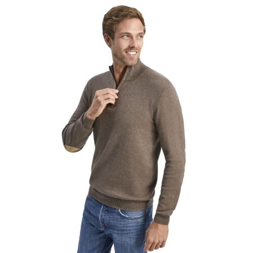 modellfoto allbow herren pullover stehkragen braun 500x. Black Bedroom Furniture Sets. Home Design Ideas
