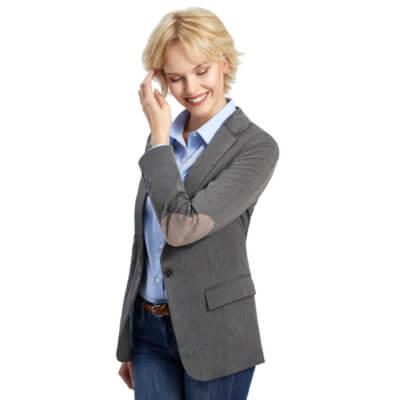 Ellenbogen-Patches Blazer für Damen