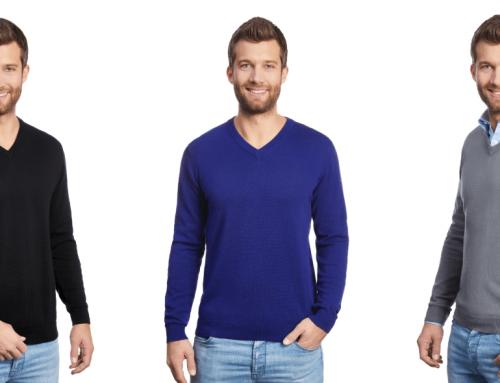 Neue V-Ausschnitt Pullover mit Patches
