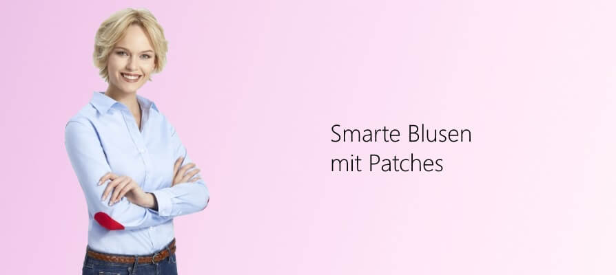 Damen Blusen mit Patches