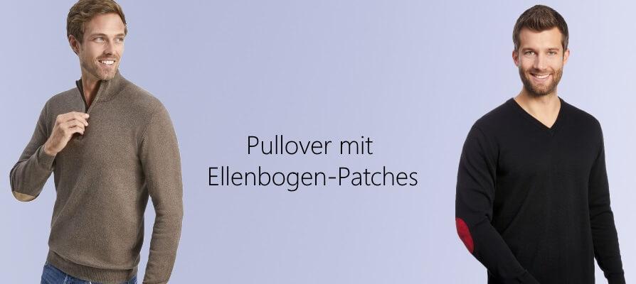 Pullover mit Ellenbogen-Patches Herren