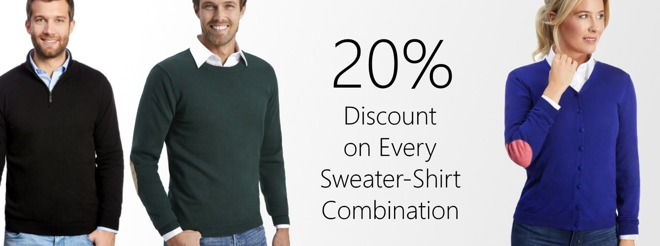 Sweater with shirt discount