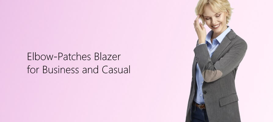 Ladies blazer with patches